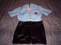 HOT SEXY womens police costume / outfit Size L..fits like M