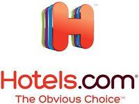 Hotels .com £15.00 Voucher