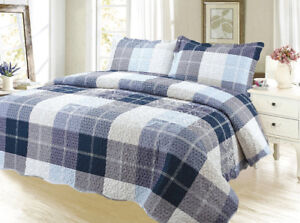 new - 3 pc Quilt set -  King and Queen Size aviailable