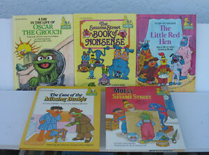 Golden Books Sesame Street ---set