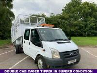 2008 Ford Transit 2.4 350 115BHP, Twin Wheel, Crew Double Cab Tipper, Very Clean