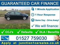 2009 09 FORD FOCUS 1.6 ZETEC IN BLACK GUARANTEED CAR FINANCE BAD CAR CREDIT
