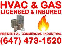Licensed & Insured (HVAC & GAS) >>>>>>>>>>>>>>>Free Estimate