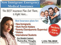 LOWEST RATES VISITOR/SUPER VISA INSURANCE.DISCOUNTS UP TO 45%
