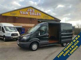 2017 17 FORD TRANSIT L2 H2 MED WHEEL BASE PANTHER BLACK EURO 6 DIESEL