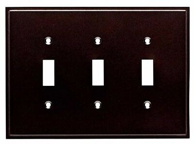 Triple Switch Cover Plate Bronze 3-Gang Cocoa Bronze Triple Toggle Wall Plate