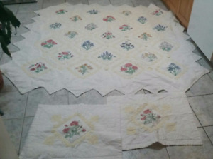 Victorian Cotton Quilt with Pillow Shams