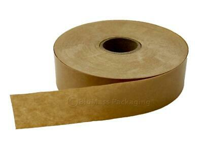 10 Rolls 72 Mm X 450 Ft Reinforced Kraft Gummed Paper Tape Brown Econo Grade