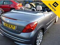 2008 08 PEUGEOT 207 1.6 CC GT HDI 2D 108 BHP! P/X WELCOME! CONVERTIBLE! 2 OWNERS