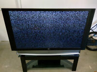 """LG 62"""" DLP Rear Projection w/ Glass Stand"""
