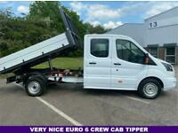 2017 Ford Transit 2.0 350 3.5t. Euro 6 DRW Crew Double Cab Tipper Sprinter Size