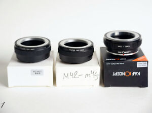 lens adapters & helicoid for m4/3, Sony E and fuji FX
