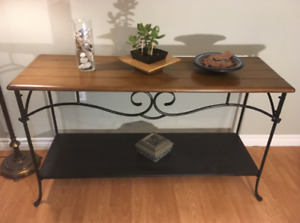 Heavy wrought iron Hall / Sofa-back / Sideboard  table for sale.