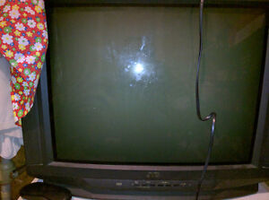 "JVC - 27"" Tube TV - Black"
