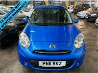 2011 11 NISSAN MICRA 1.2 ACENTA 5D AUTOMATIC + LOW MILEAGE FULL AUTOMATIC