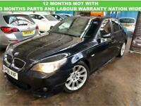 BMW 5 SERIES 2.5 525D M SPORT 4D DIESEL M SPORT BLACK LEATHER REMAP