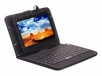 "7"" Android 4.4 Quad Core 8GB WIFI and Dual Camera Black Tablet PC with Keyboard"
