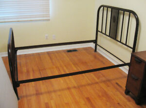 Vintage 1940s Metal Bed Frame for Double Bed