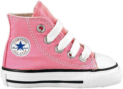 Converse Chuck Taylor All Star Hi Pink White Infant Toddler Girl Shoes Siz 2-10 ](All Girl Shoes)