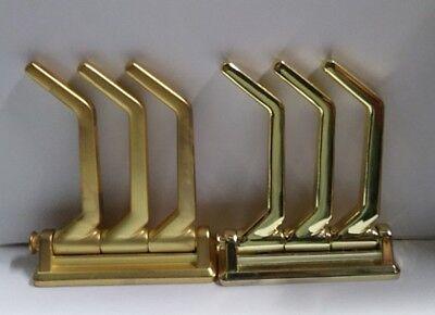 Hafele Wardrobe Coat Triple Swivel Hook Closet Solutions Folding Hook Brass