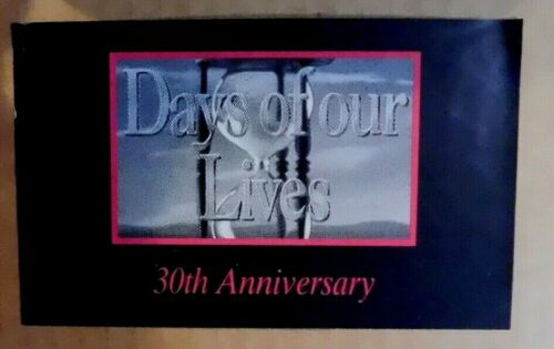 Days Of Our Lives 30th Anniversary + Hour Glass + Signed Copy Promo FYC B13