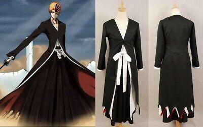 Bleach Ichigo Kurosaki Bankai Cosplay Costume Kostüme Gewand Robe Nach Maß - Ichigo Bankai Kostüm