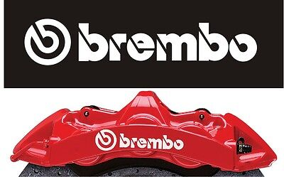 BREMBO BRAKE CALIPER DECALS STICKERS TOP QUALITY HIGH TEMP - set of 4