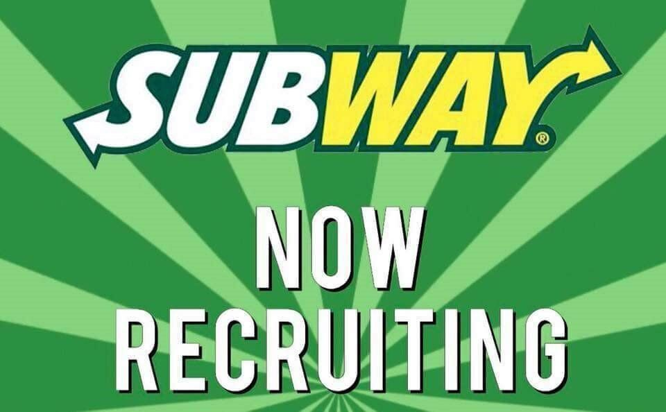 SUBWAY - New Store Opening! Full/Part Time Sandwich Artists ...