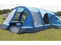 Kampa Filey 6 air tent with carpet , car battery pump and footprints