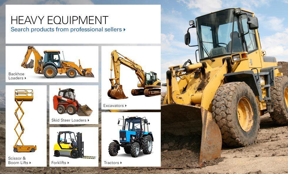 Types Of Excavators : Heavy equipment tractors skid steers excavators ebay