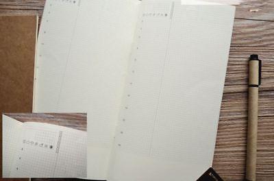 To-Do Tagesplan Traveler Notebook 22x11cm Refill Einlage