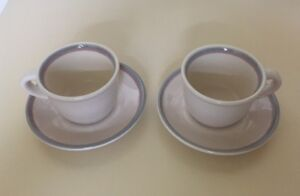 "PFALTZGRAFF ""AURA"" SET OF 2 CUPS AND SAUCERS"