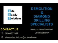 Diamond core drilling,Concrete cutting,controlled demolition,concrete breaking, strip outs. Burning