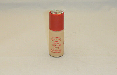 CLARINS TEINT ECLAT TRULY MATTE FOUNDATION SPF15 -#07 - 10ML UNB TRIAL SIZE (T)