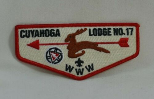 CUYAHOGA LODGE 17 ORDER OF THE ARROW FLAP PATCH BOY SCOUTS OF AMERICA FREE SHIP