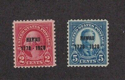 KAPPYSSTAMPS VIRUS SALE 19046    SCOTT USA  647 648 HAWAII   MINT  HINGED