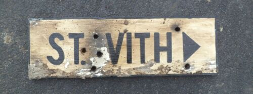 ST. VITH  WOOD SIGN.    size 18