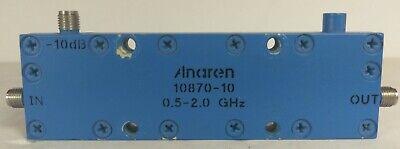 Anaren 10870-10 Coaxial Sma Directional Coupler 0.5-2ghz