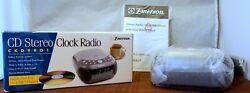 NEW! EMERSON *Dual Alarm Clock & CD Player* AM/FM Stereo Radio CKD9901 MP3 Input
