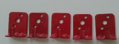 New Lot Of 5-universal Wall Mount 5 Fire Extinguisher Brackethook - Red