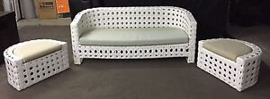 White wicker outdoor lounge setting - Moving Sale! Beerwah Caloundra Area Preview