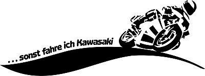 Aufkleber, Folie, Motorrad, Kawasaki, Beschriftung 40 x 15, alle Marken möglich