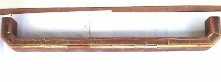 Fireplace fender (hearth surround), antique Victorian, tiled