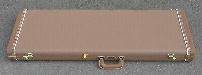Fender Stratocaster/Telecaster Case - Brown Tolex W/ Orange Satin Interior - NEW