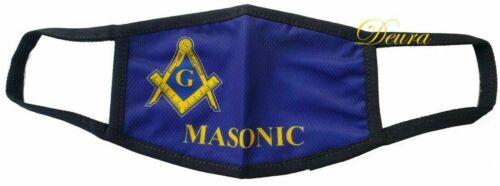 MASONIC MASTER MASON FACE MASK FREEMASON BLUE MASON Washable Reusable