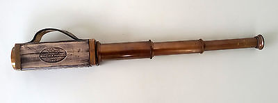 Vintage Nautical Telescope Brass Leather Pirate Spyglass Scope Collectible Gift