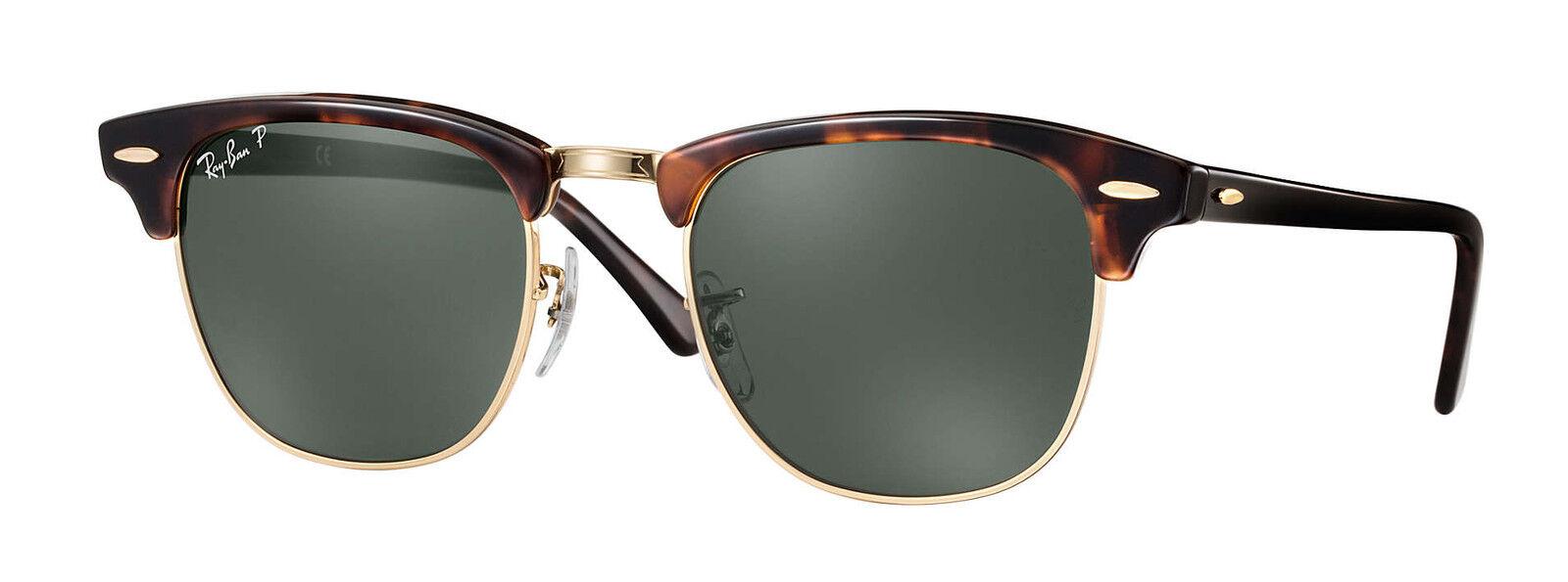 673f73e728d41 Ray-Ban Clubmaster RB3016-990 58 Havana 49mm Polarized Sunglasses   eBay