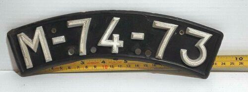 MACAU - 1970s vintage front slicer motorcycle license plate - nice used example