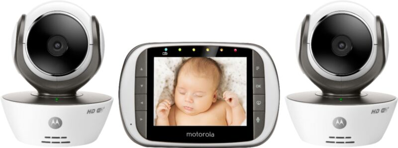 """Motorola Video Baby Monitor with 3.5"""" Screen Black/White MBP853CONNECT-2"""