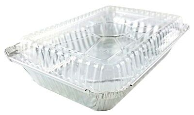 Handi-foil 2 Lb. Oblong Aluminum Take-out Container Pan Wplastic Dome Lid 25pk